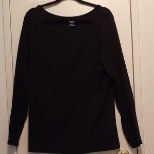 Old Navy Black Long-Sleeve T-Shirt XXL